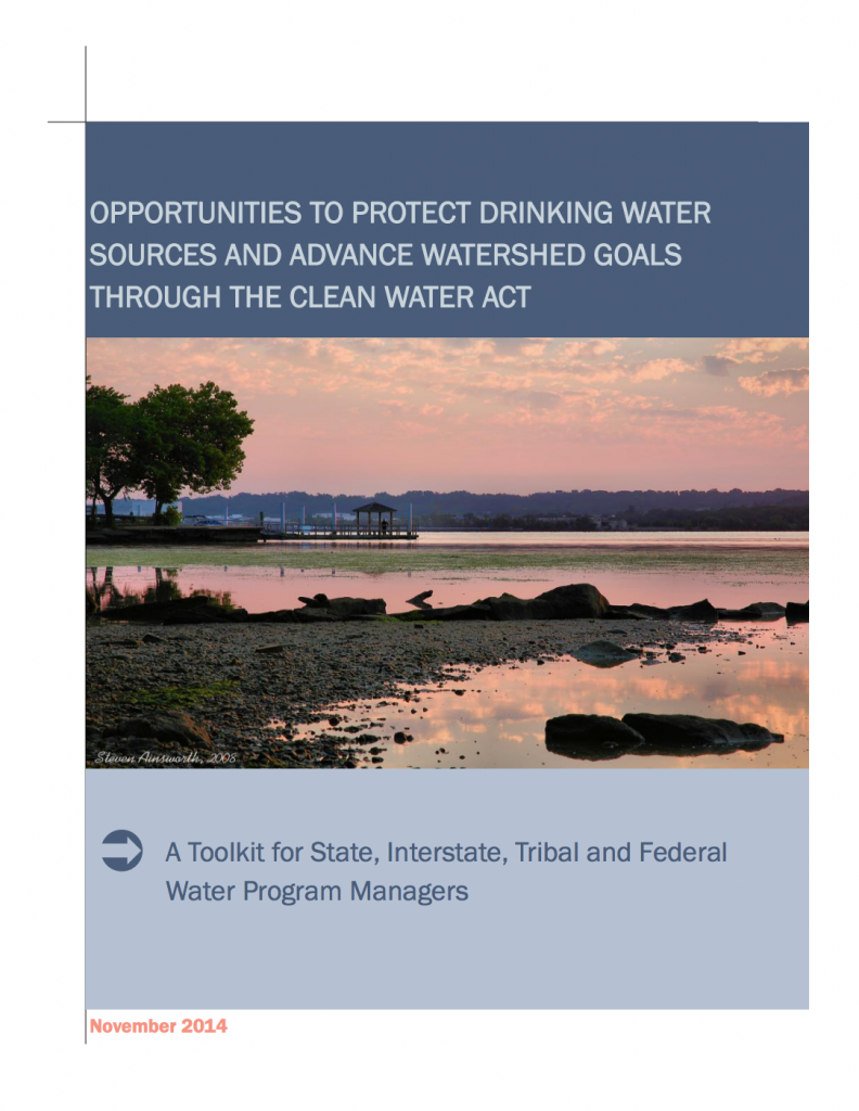 Cover to the Clean Water Act / Safe Drinking Water Act Toolkit