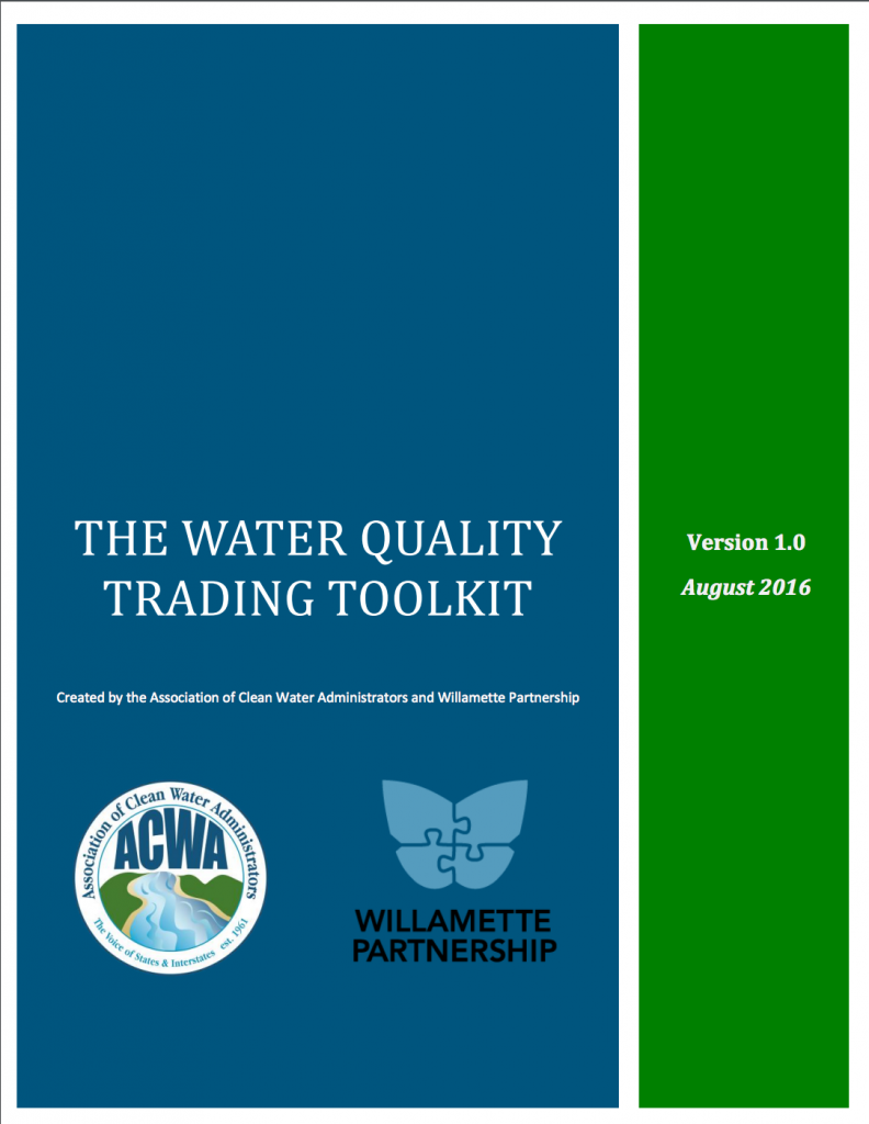 Cover to the Water Quality Toolkit